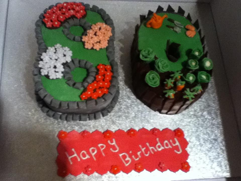 80th garden birthday cake the great british bake off for Gardening 80th birthday cake
