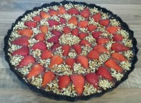 Choc, strawberry &hazelnut tart 1