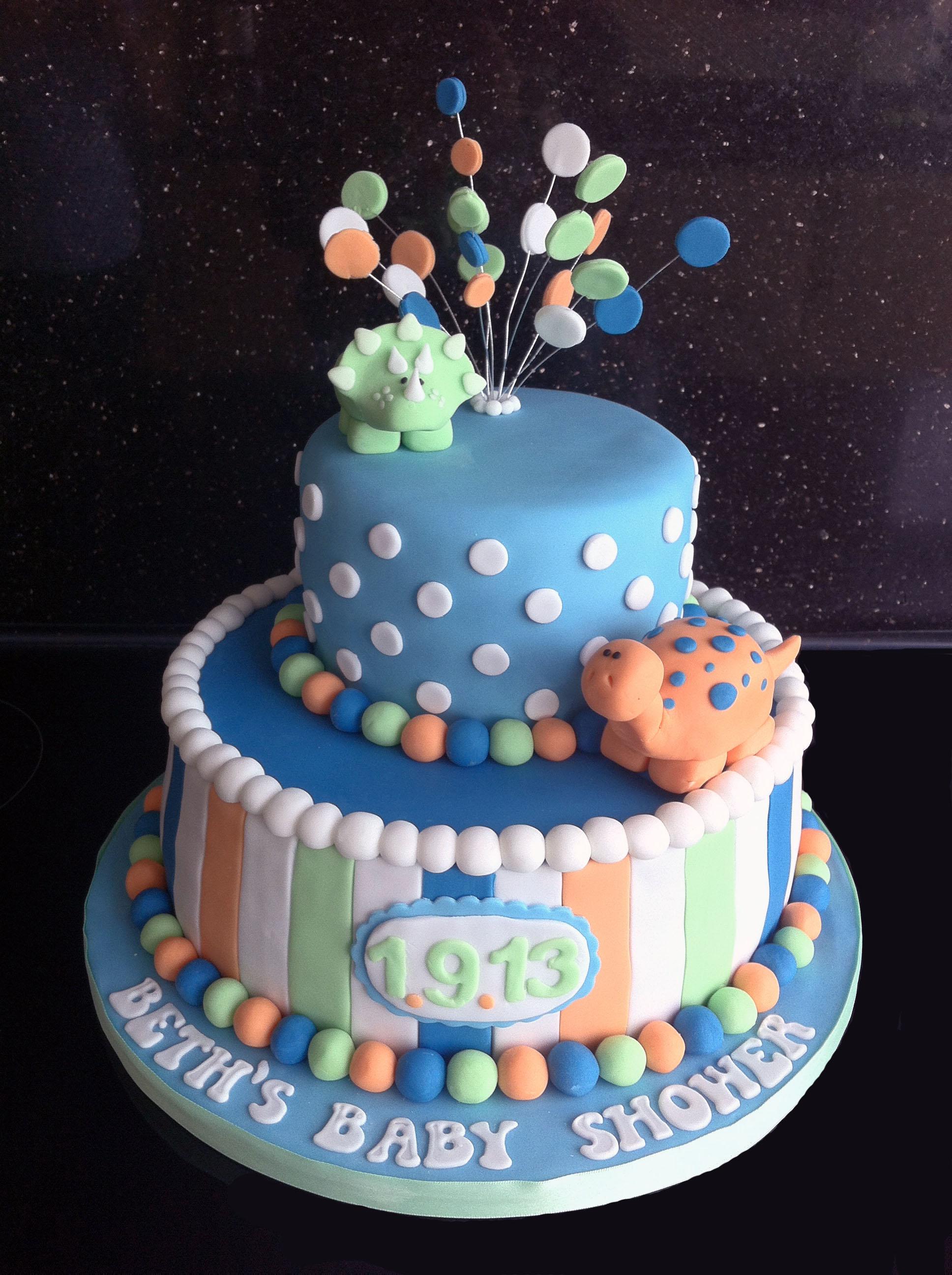 Baby Shower Cakes Cardiff ~ Dinosaur baby shower the great british bake off