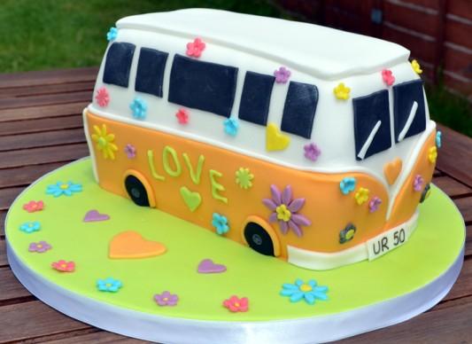 how to make a volkswagen van cake