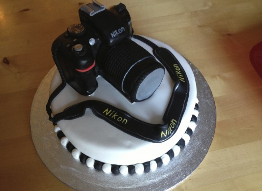 Birthday Cake Images For Camera : 18th Birthday Camera Cake The Great British Bake Off