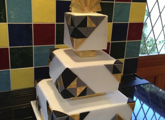 Art Deco Cake Slice : Art Deco Geometric Wedding Cake The Great British Bake Off
