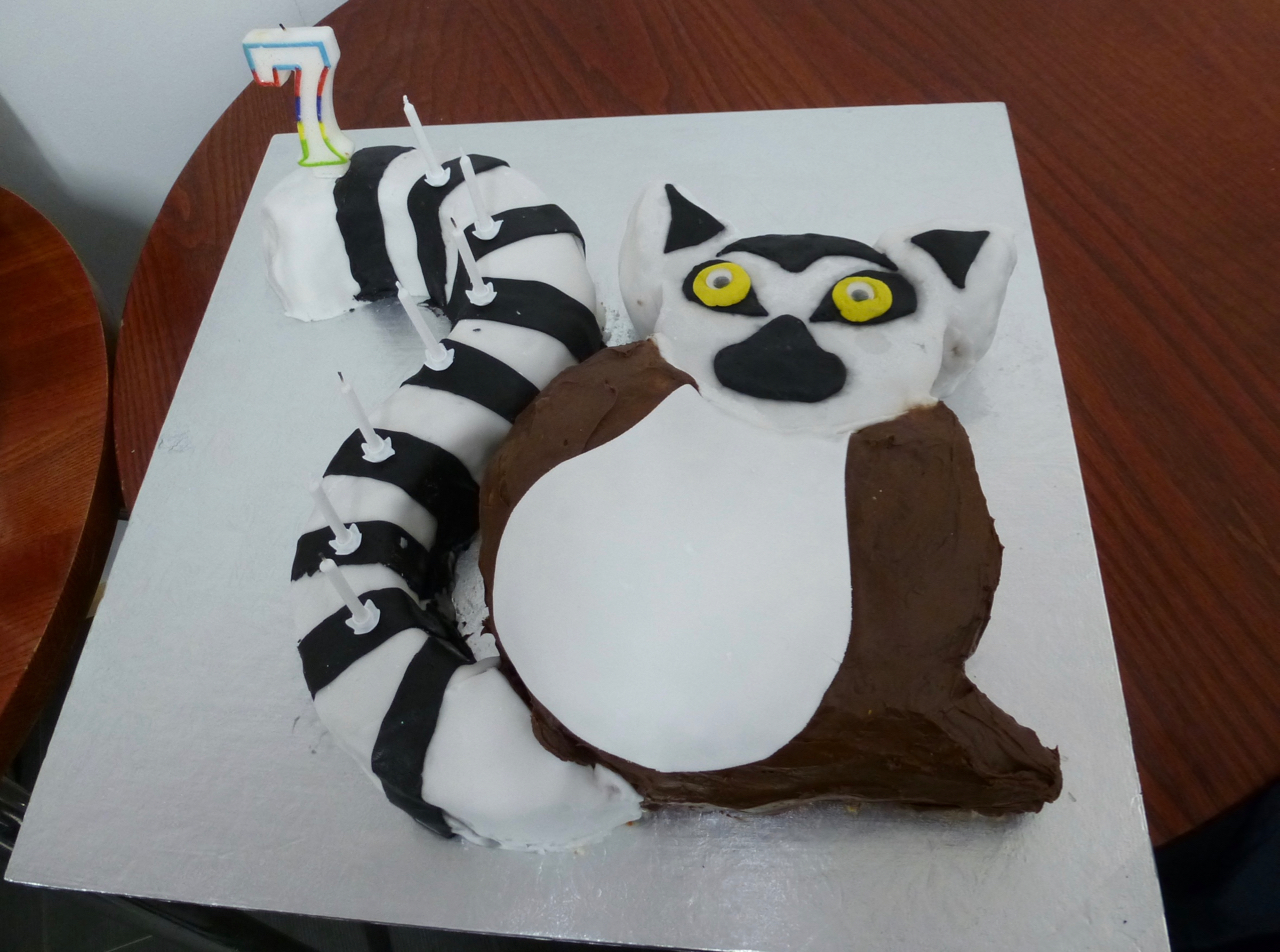 Lemur Birthday Cake The Great British Bake Off