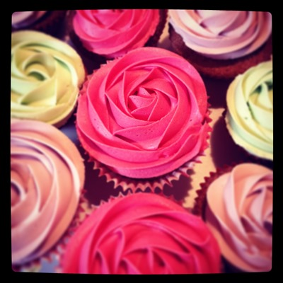 Red Rose Cupcakes The Great British Bake Off