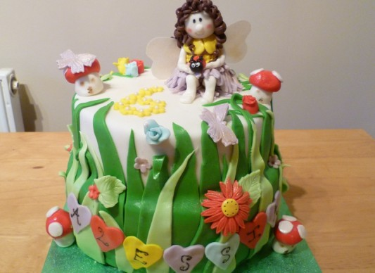Alessias Fairy Garden Cake The Great British Bake Off
