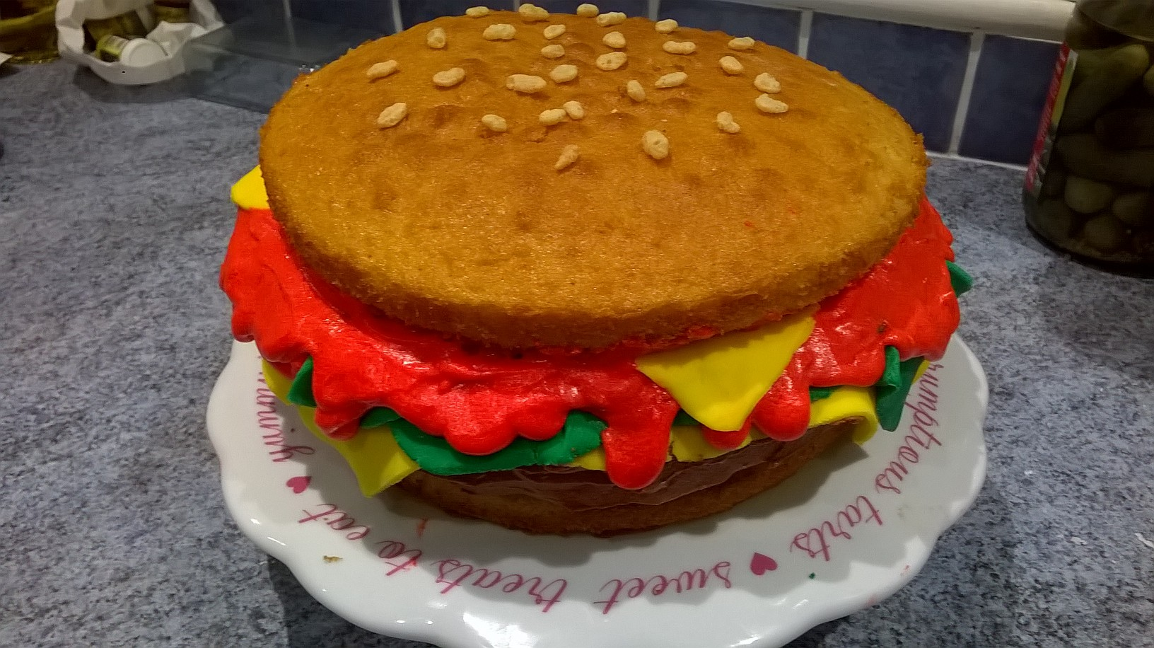 Burger Cake The Great British Bake Off