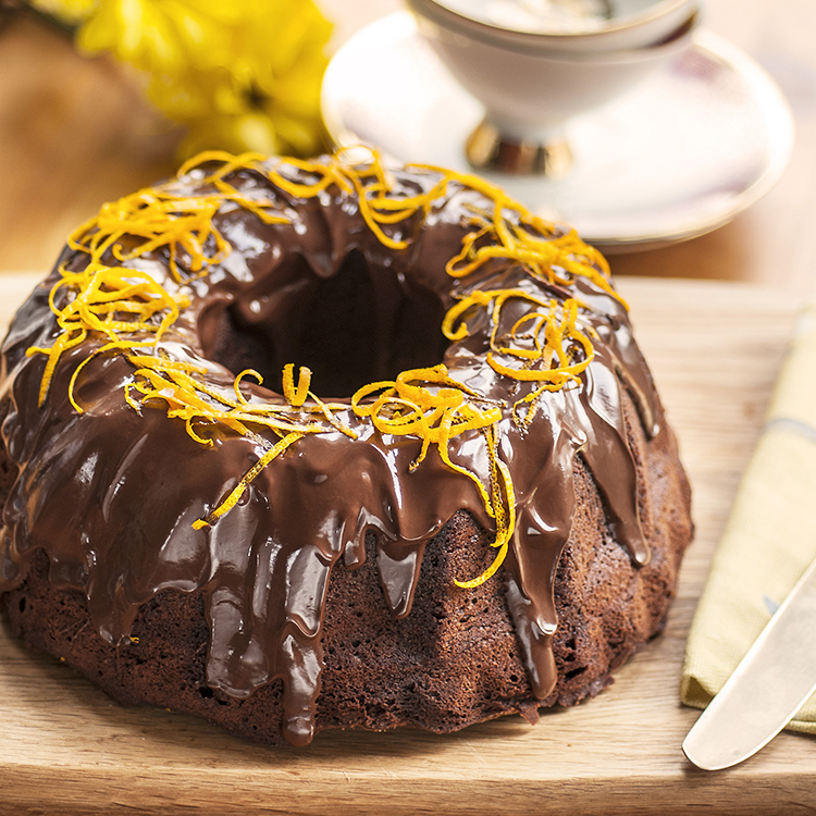 Chocolate Orange Bundt Cake The Great British Bake Off