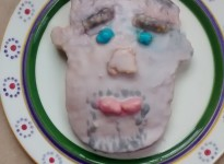 Rachels Paul Hollywood's face in cake FromLymington Hampshire