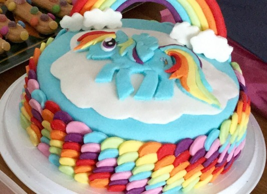 Rainbow dash party cake the great british bake off for Rainbow dash cake template