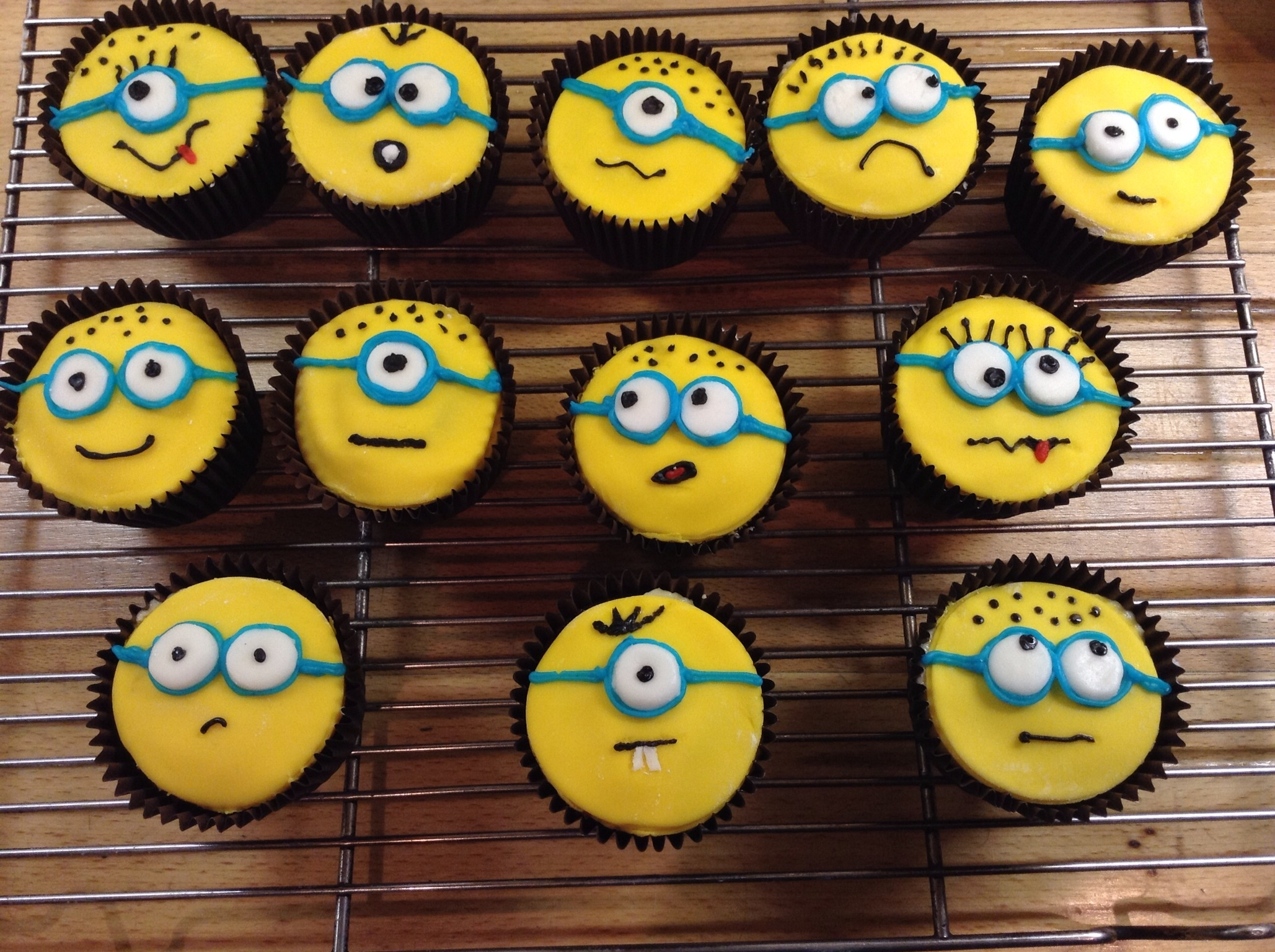 Minion Cupcakes The Great British Bake Off