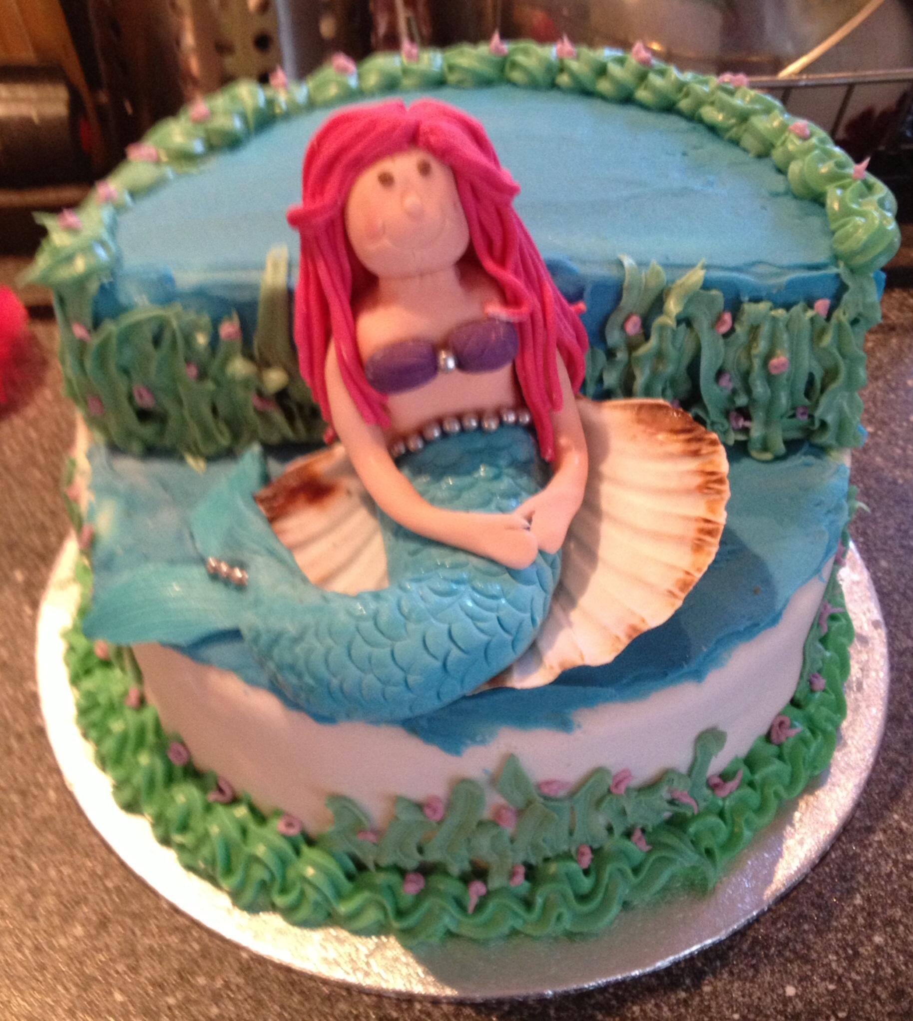 Little mermaid birthday cake  The Great British Bake Off