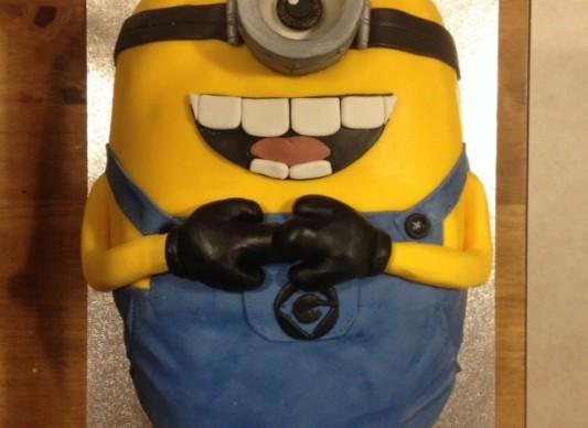 Minion birthday cake The Great British Bake Off
