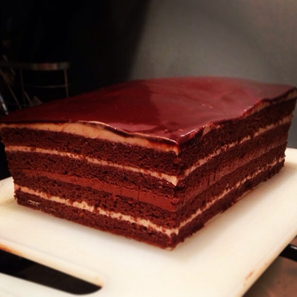 Chocolate Cake With Raspberry On Great British Bake Off