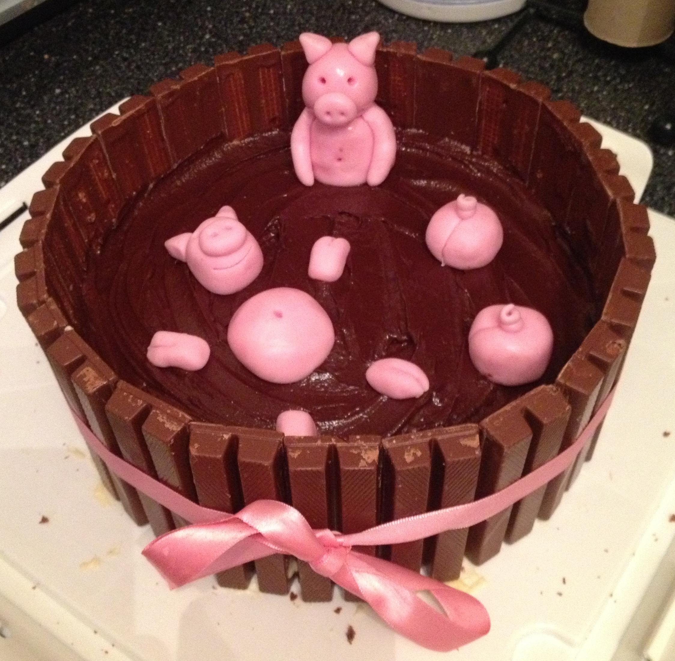 How To Make Pig Mud Bath Cake