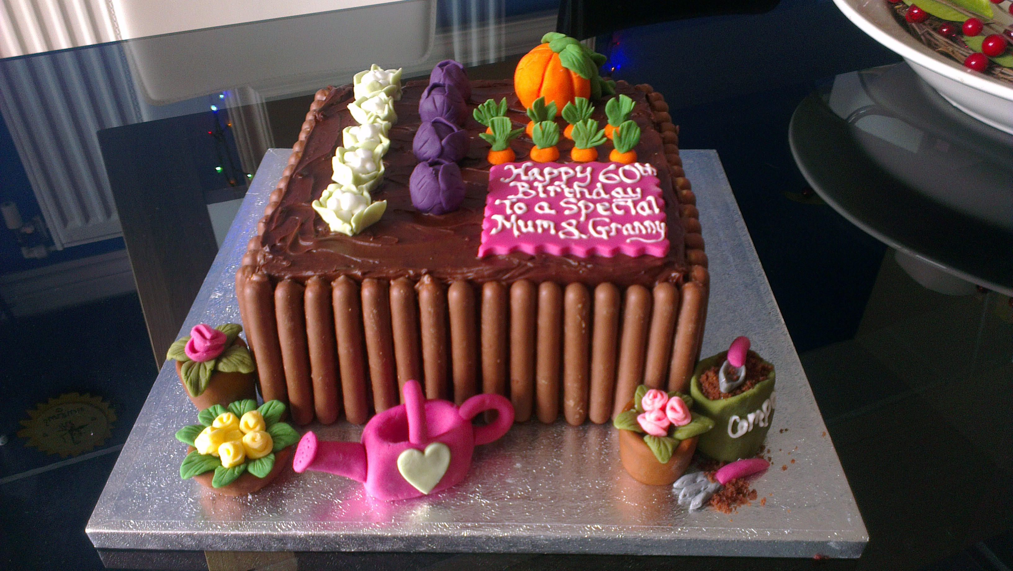 Raised Vegetable Bed Cake The Great British Bake Off
