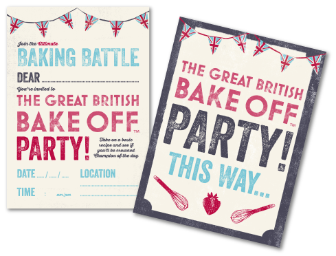 Host your own bake off challenge at home download the party pack the great british bake off party yadclub Gallery