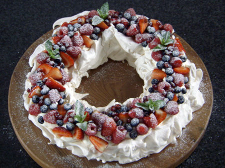 Mary S Christmas Pavlova The Great British Bake Off