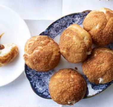 Stacey's Banoffee Craquelin Choux Buns