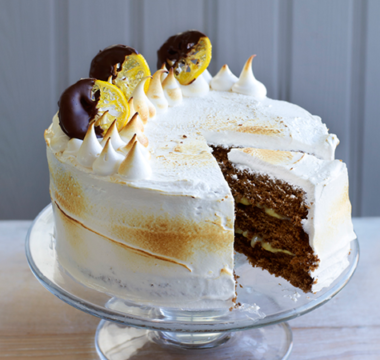 Manon's Italian Meringue & Lemon Ginger Cake