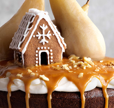 Kim-Joy's Stem Ginger Cake with Cream-cheese Frosting & Salted Caramel