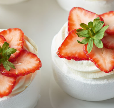 Strawberry Rose Meringues