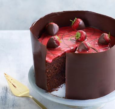Karen's Strawberry Fair Chocolate Cake