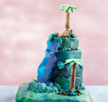 Dan's Pirate Island Cake