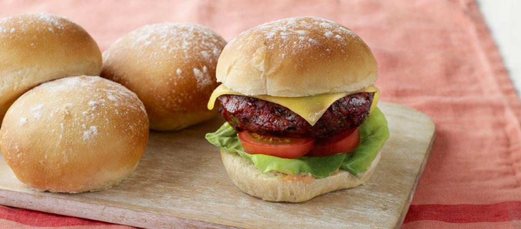 Paul Hollywood S Floury Baps Veggie Burgers The Great British Bake Off