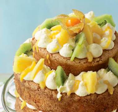 Chris's Tropical Fresh Fruit Cake