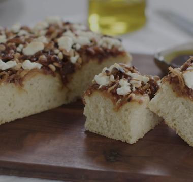 Tamal's Caramelised Onion & Feta Focaccia