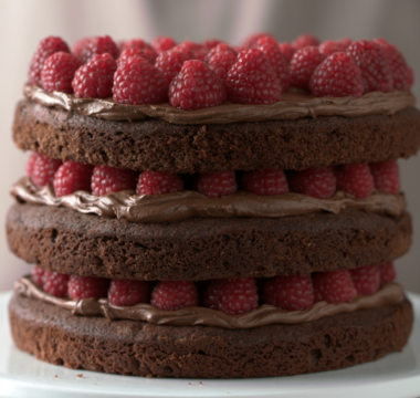 Chocolate & Raspberry Celebration Cake