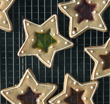 Stained-glass Ginger Biscuits