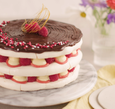 Rosie's Salted Caramel, Chocolate & Raspberry Stack