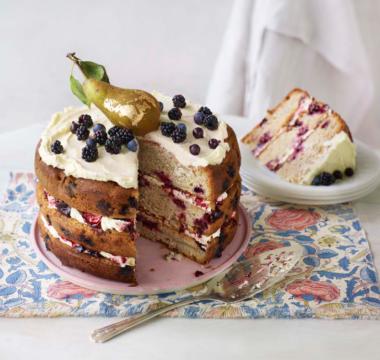 Tom's Gilded Pear & Cardamom Cake