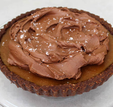 Liam Charles's Salted Caramel Chocolate Tart