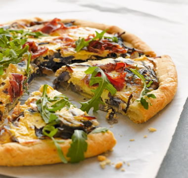 Caramelised Red Onion & Cheese Tart