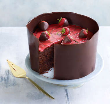 Karen's Strawberry Fair Chocolate Cake