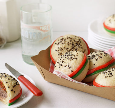 Lottie's Cheeseburger Steamed Buns