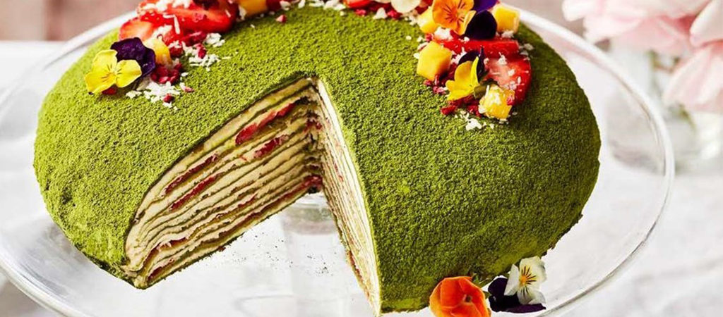 Prue Leith S Matcha Mille Crepe Cake The Great British Bake Off