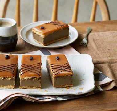Dave's Caramel Latte Custard Slices