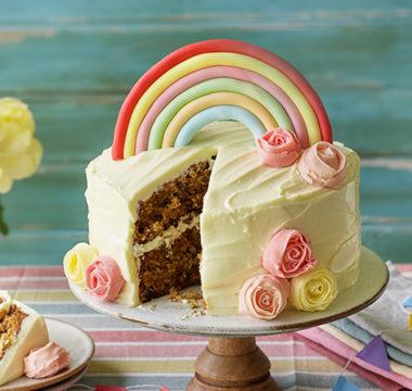 Laura's Rainbow Dessert Cake