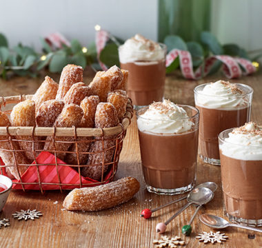 Jamie's Chocolate Mousse Milkshake & Churros