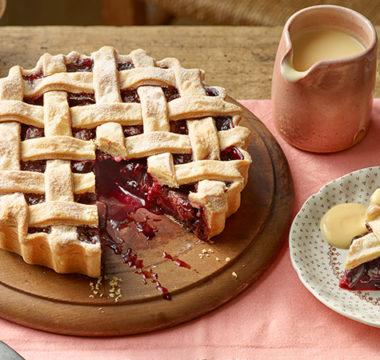 Paul Hollywood's Latticed Cherry Pie & Custard