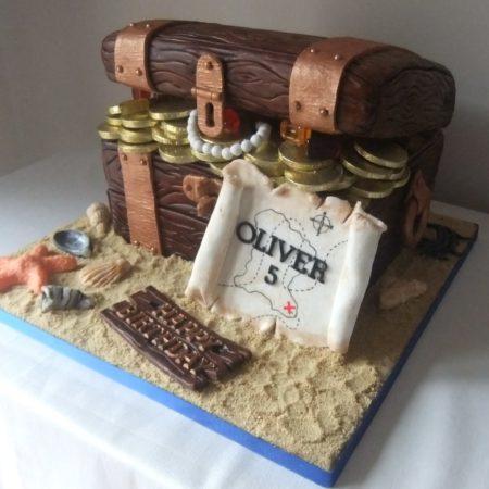 Pirate Treasure Chest Cake The Great British Bake Off