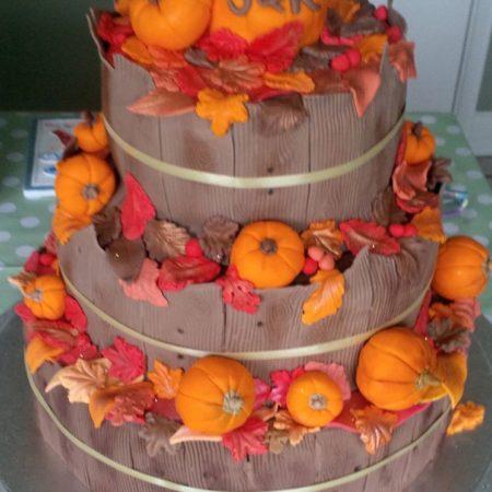 Cool Autumn Halloween Wedding Cake The Great British Bake Off Funny Birthday Cards Online Unhofree Goldxyz