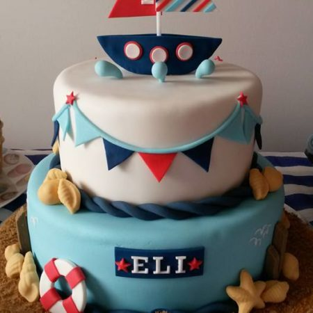 Tremendous Nautical Themed Christening Cake The Great British Bake Off Personalised Birthday Cards Sponlily Jamesorg