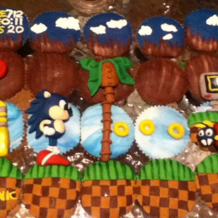 Sonic The Hedgehog Cupcakes The Great British Bake Off