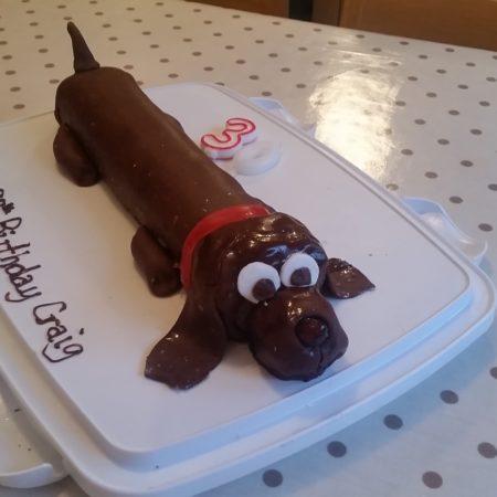 Sarah S Sausage Dog Cake The Great British Bake Off