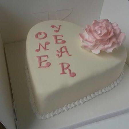 1st Wedding Anniversary Cake The Great British Bake Off