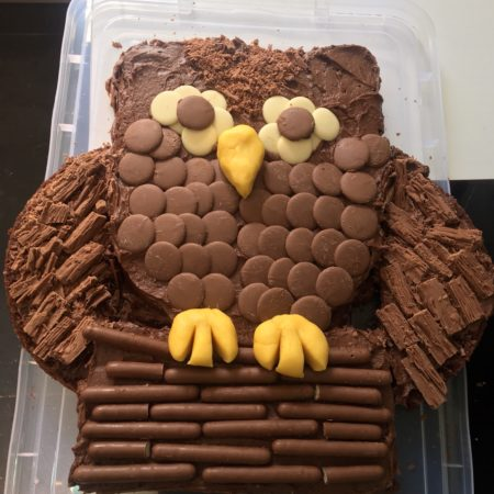 Fine Chocolate Owl Birthday Cake The Great British Bake Off Funny Birthday Cards Online Elaedamsfinfo